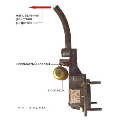Игольчатый клапан ВАЗ 2107