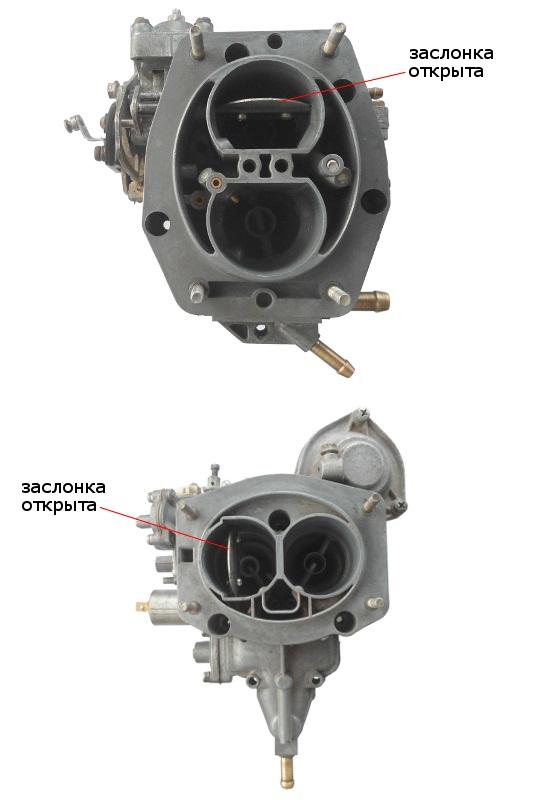 Воздушная заслонка карбюратора ВАЗ 2107
