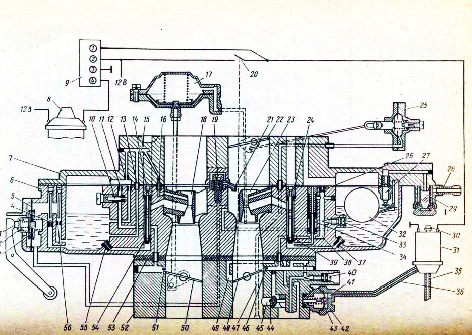 Схема карбюратора ДААЗ-2140