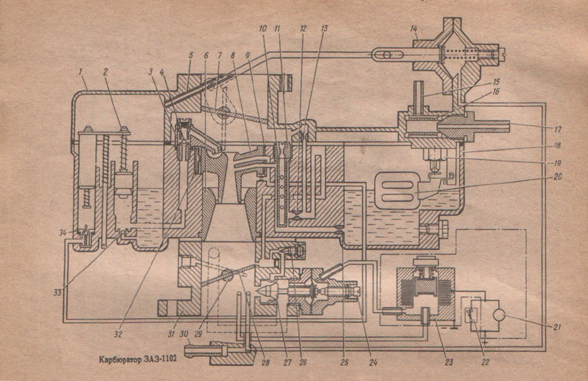 Схема карбюратора К-133М
